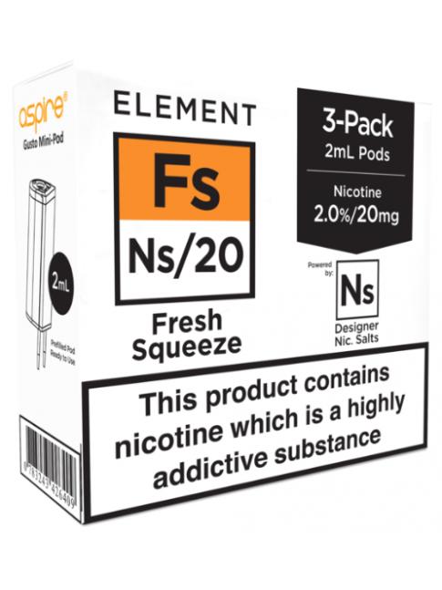 Köp Fresh Squeeze - Aspire Gusto Mini NS20 Pod i vape shop i