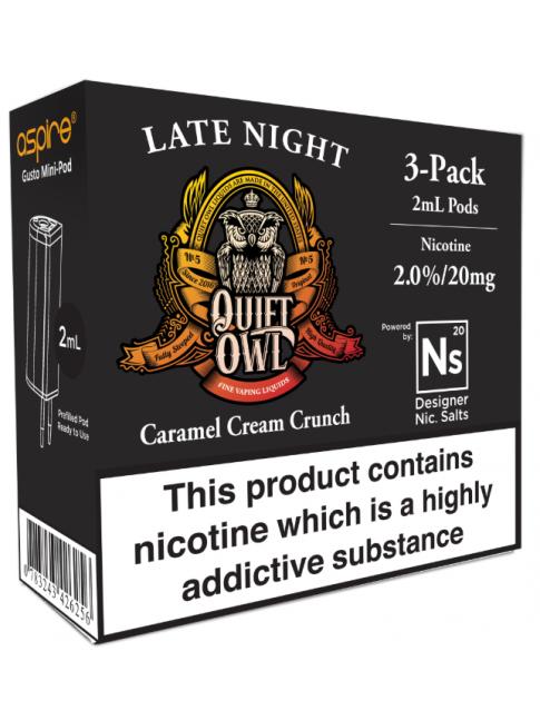 Köp Quiet Owl Late Night - Aspire Gusto Mini NS20 Pod i vape