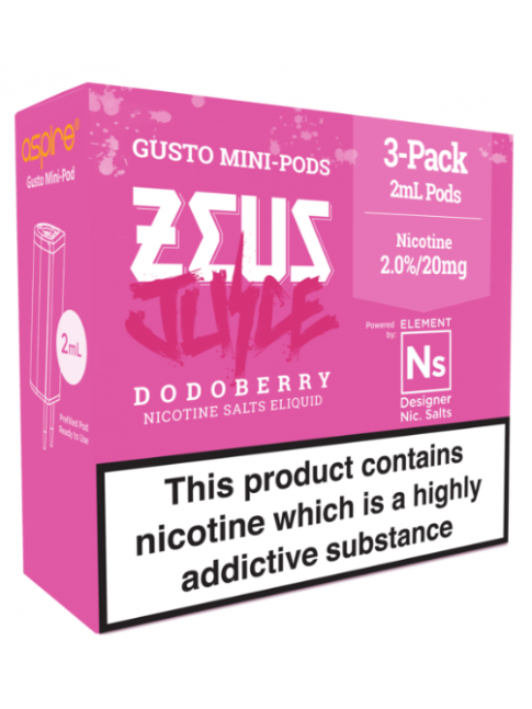 Köp Zeus Juice Dodoberry - Aspire Gusto Mini NS20 Pod i vape