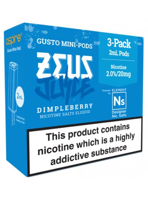 Köp Zeus Juice Dimpleberry - Aspire Gusto Mini NS20 Pod i vape